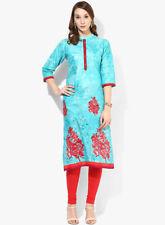 Indian Bollywood Kurta Kurti Designer Embroidery Women Ethnic Dress Top Tunic