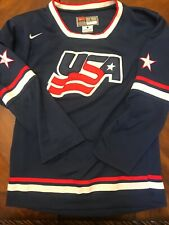 Team USA Hockey Jersey By Nike Youth Large Embroidered