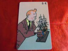 TRES RARE TELECARTE SETCALL - NEUVE - 5 € - Tintin et Maquette - 500 exemplaires
