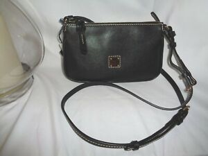 Dooney & Bourke Black Saffiano Leather Lexi Crossbody Small Handbag XF400