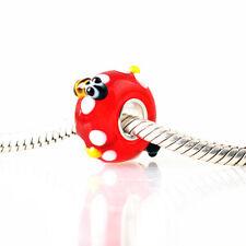 1pcs SILVER MURANO GLASS BEAD LAMPWORK Animal European Charm Bracelet DW392