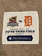 """Toledo Mud Hens Vs Detroit Tigers 04-04-12 Souvenior Towel 16"""" X 14"""""""