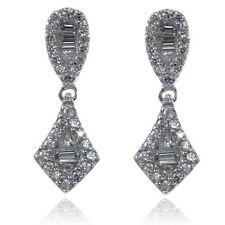 Cubic Zirconia Butterfly Drop/Dangle Fashion Earrings