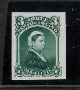 Newfoundland #33TCii Very Fine Proof On India Paper
