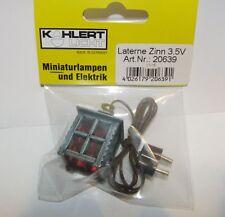 Laterne Zinn 20639 Kahlert Licht 3,5 V neu OVP Krippenzubehör