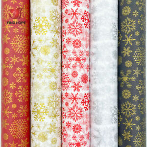 10PCS Tissue Paper Wrapping Snowflake Christmas DIY Craft Flower Gift Box Decor