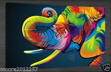 Bright-coloured elephant On Canvas large Art Oil Painting Wall Decor (no framed)