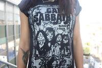 Cat Sabbath- Black Sabbath with cats and kittens - new ladies womens t shirt