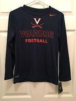 NWT Virginia UVA Cavaliers Nike Wahoos Football Long Sleeve T-Shirt Youth Large