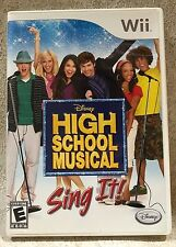 Nintendo Wii Disney High School Musical Sing It! Game Case Manual Untested