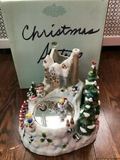 Heart-Warming Partylite Snowbell Candle Holder Magnetic Snowman Skates on Mirror