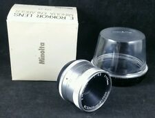 Minolta E.Rokkor F4.5 f=75mm Lens W Case, Screw Fitting, Serial no 402010, Boxed