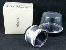 Minolta E.Rokkor F4.5 f=75mm Lens W Case, Screw Fitting, Serial no 402010, Boxed