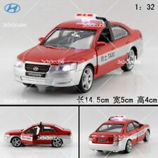 1:32 Red Hyundai sonata Beijing China taxi Die Cast Model Car With Sound & Light