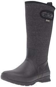 Bogs Women's Crandall Tall Snow Boot, Black/Multi, Size 11.0 Lnzl