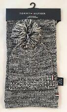 TOMMY HILFIGER - Schal + Mütze Set Schalset Hat + Scarf schwarz weiß / NEU USA