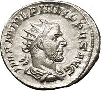 PHILIP I 'the Arab' 247AD Silver Ancient Roman Coin Good luck Commence i52323