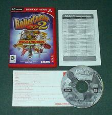 Rollercoaster Tycoon 2: WACKY WORLDS pacchetto di espansione per PC, CD-ROM-in buonissima condizione