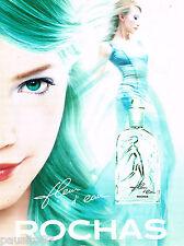 PUBLICITE ADVERTISING 065  1997  ROCHAS  parfum eau de toilette FLEUR D'EAU