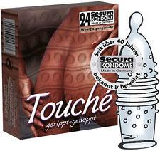 Profilattici Preservativi stimolanti Secura Touché 24 pz