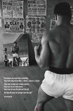 MUHAMMAD ALI GYM 24x36 poster GREATEST BOXING PEOPLE'S CHAMP CASSIUS CLAY ICON!!