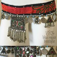 Authentic Vintage Kuchi Tribal Pendant Embroidered Hip Belt Belly Dancing ATS 04