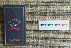 Paul Shark Yachting LOT OF 10 PCS Shark Tattoo Stickers
