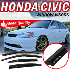 For 01-05 Honda Civic ES1 ES2 Window Visor Rain Wind Vent Shade Arcylic W/Type R
