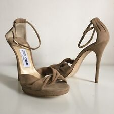 47b81d2b8a1  795 Size 41 Jimmy Choo Jada Suede Platform Sandals Nude Beige