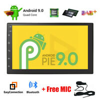 "7""Android 9.0 Car Stereo BT GPS Nav Radio 2-DIN Head Unit 4G WiFi DAB+ OBD2 DVR"