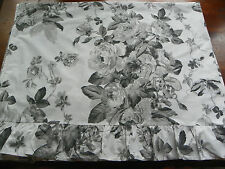 Ralph Lauren Sargent Floral Ruffled Twin Sheet-Black & White 100% Cotton 3 Avail
