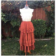 New Free People Ruffle Maxi Skirt Size 6 New