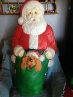 "VINTAGE 1996 CHRISTMAS EMPIRE 42"" SANTA BLOW MOLD W/LIGHT CORD #2"