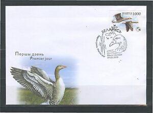 2009. Belarus. Bird of the year. Grey goose. FDC
