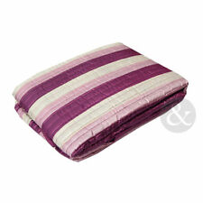 Polyester Striped Contemporary Decorative Bedspreads