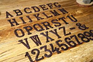 Black Iron Antique Metal Door Numbers 0-9 Numeral Letter A-Z Door Home DIY Decor
