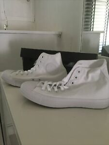 converse all star high top white mono