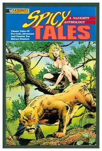 Spicy Tales #16 VF 1990 Eternity Comics - GGA Headlight Jungle Cover
