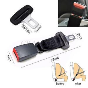 """9'' Car Seat Seatbelt Adjust Safety Belt Extender Extension 7/8""""Buckle Black"""