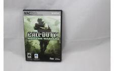 Call of Duty 4 Modern Warfare MAC Mac DVD Video Game (Mac 2008) no scratches