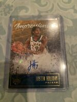 2019-20 Court Kings Justin Holiday Impressionist Ink Auto Autograph /179 Pacers