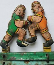 VINTAGE COLLECTIBLE HAND HELD WRESTLING TOY SPRING OPERATED