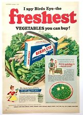 BIRDS EYE VEGETABLES (PEAS) - Vintage Magazine Advert (7 November 1953) Food *