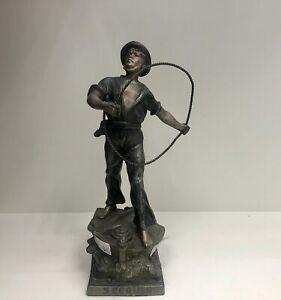 Zinnfigur, Seemann, ARTHUR WAAGEN 1833-1893, ca. 23cm hoch, 534g