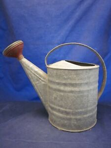 Watering Can Galvanized # 8 Sprinkler Head Farmhouse VINTAGE EXCELLENT