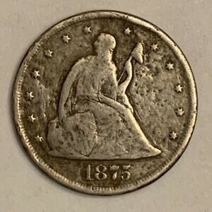 1875-CC Twenty Cent silver piece key date