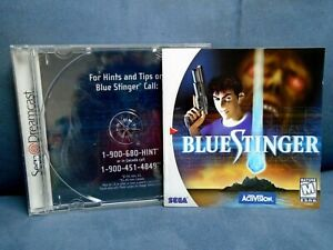 SEGA DREAMCAST BLUE STINGER ORIGINAL MANUAL,  ART & CASE ONLY NO GAME