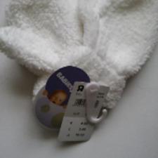 Babies R Us White Teddy Fleece Glove 2-4 years