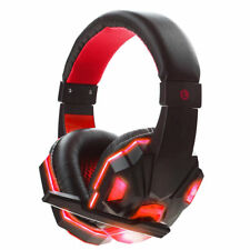 3.5mm Gaming Headset Mic RED LED Headphones For PC PS3 PS4 Xbox one 360 Laptop
