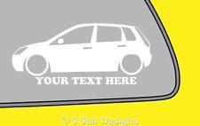 2x LOW YOUR TEXT d Mk6 Fiesta 5-DOOR TDCi outline sticker 347